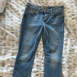 Joe's cropped frayed hem jeans